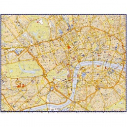 London Super Scale Map - Flat Laminated