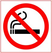 No Smoking - Double Sided Round Sticker