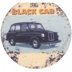 Black Cab Magnetic Bookmark