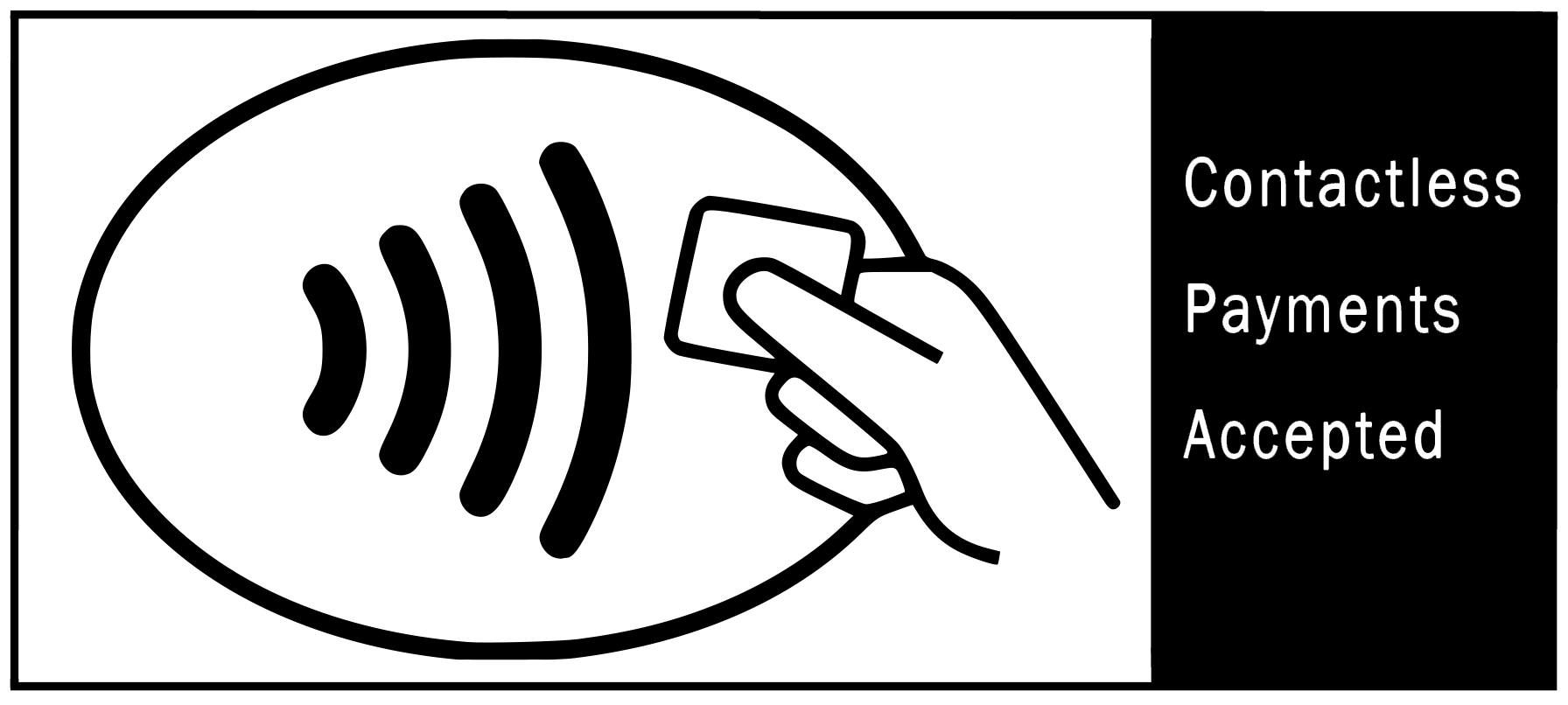 Contactless Payment Accepted Sticker