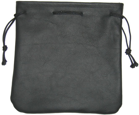 Leather Drawstring Bag - Large