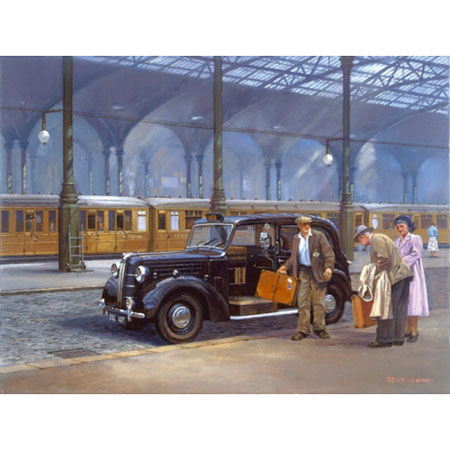 'Taxi' Greeting Card
