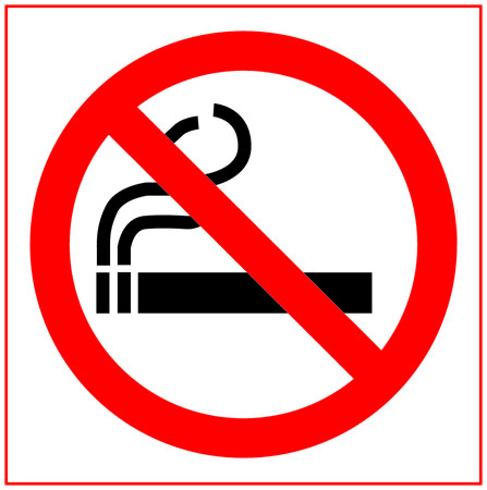 No smoking double sided round sticker