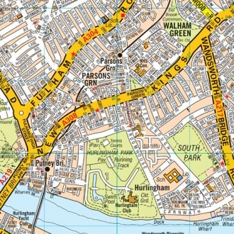 Map Of London And Surrounding Suburbs.Large London Knowledge Map 2019 Laminated