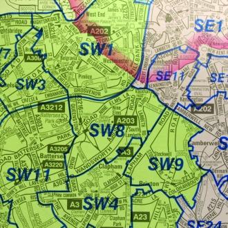 Az London Street Map.London A Z Postcode Map