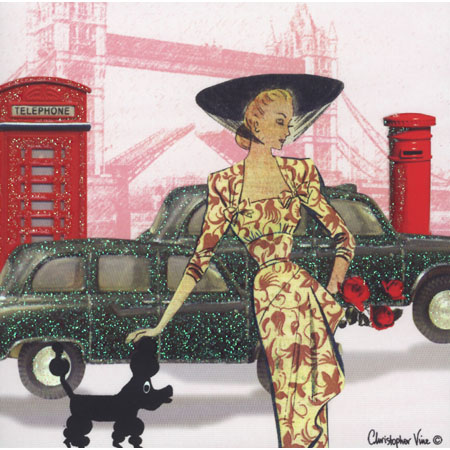 Glamourous London Icons Greeting Card – London Birthday Cards
