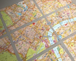 London Super Scale Map - Laminated Cut Outs