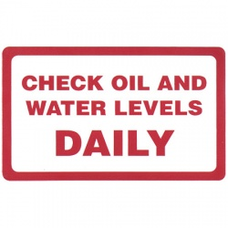 Check Oil and Water Levels Daily