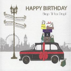 ''Taxi'' Shop 'Til You Drop! Birthday Card