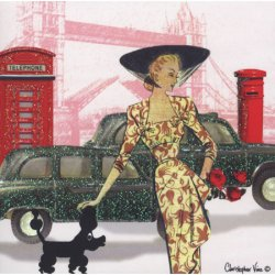 Glamourous London Icons Greeting Card