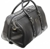 Large Black Gym Leather Holdall
